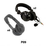 P09 Package of Headphones and Headsets