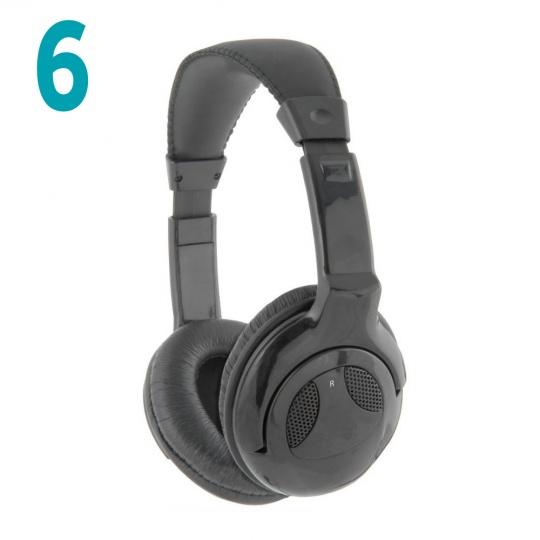 Coomber Headphones Package of 6